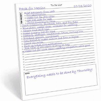 TO DO List Notepad, 50 Pages Task Pad with Checklist,
