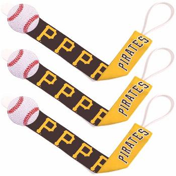 Unbranded Pittsburgh Pirates Infant 3-Pack Pacifier Clip Set ,