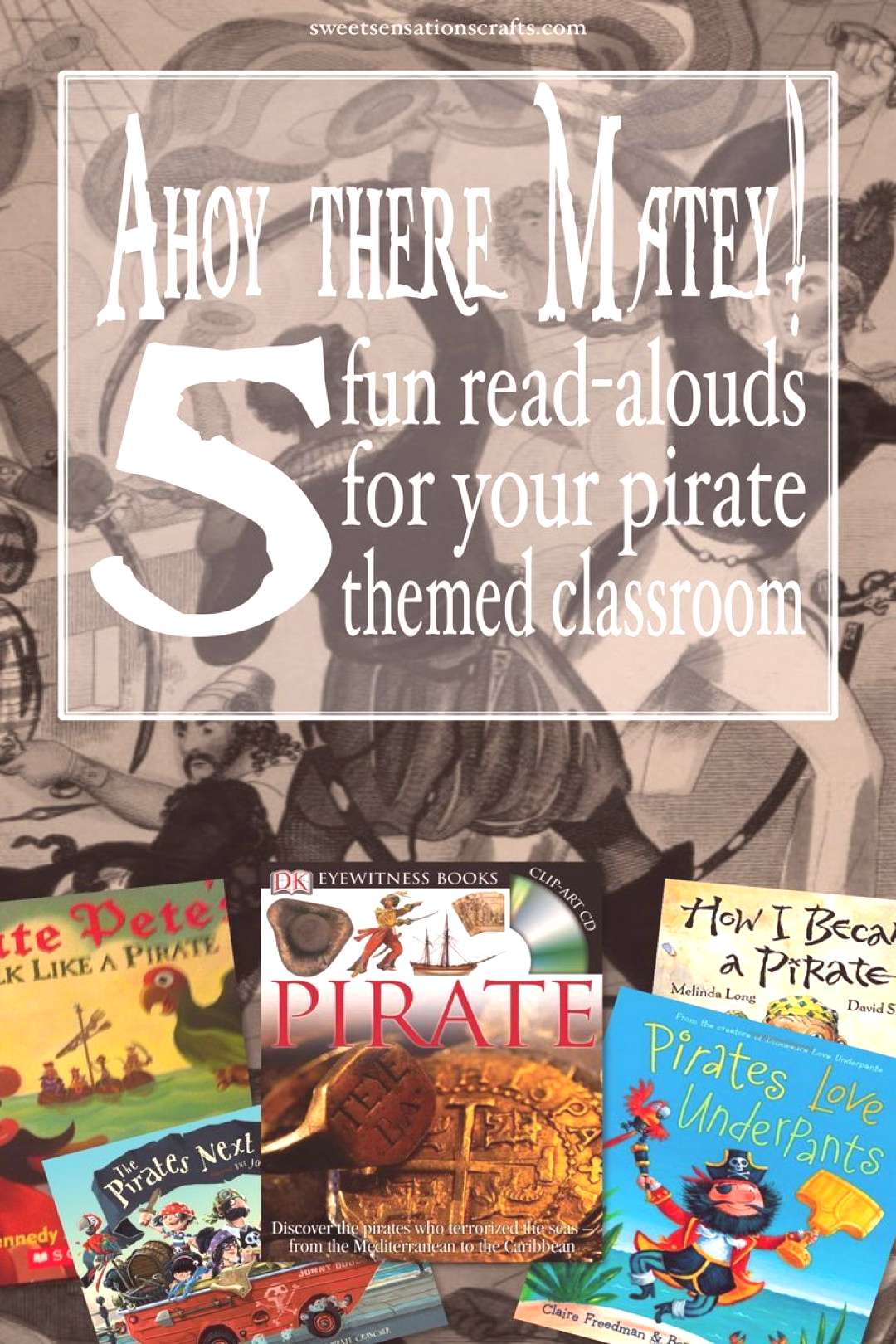 Ahoy there! 5 books for your pirate themed classroom! Pirate books for your pirate themed classroom