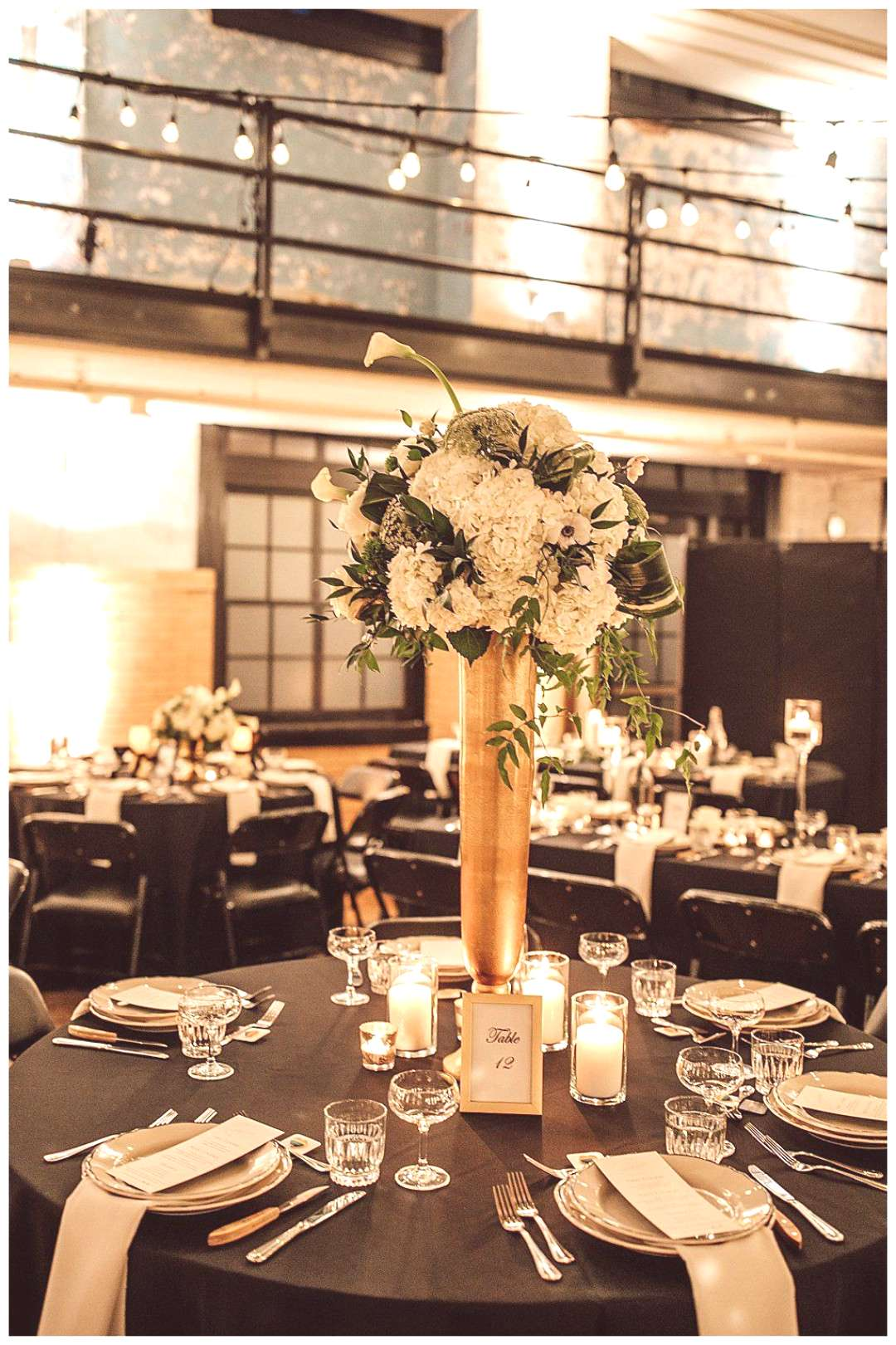 Black Tie Wedding in a Retro Gymnasium at the Pittsburgh Ace Hotel - Love Inc. Mag -