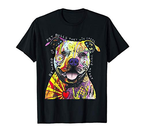 Colorful Pit-bull Terrier Dog Love-r Dad Mom, Boy Girl Funny