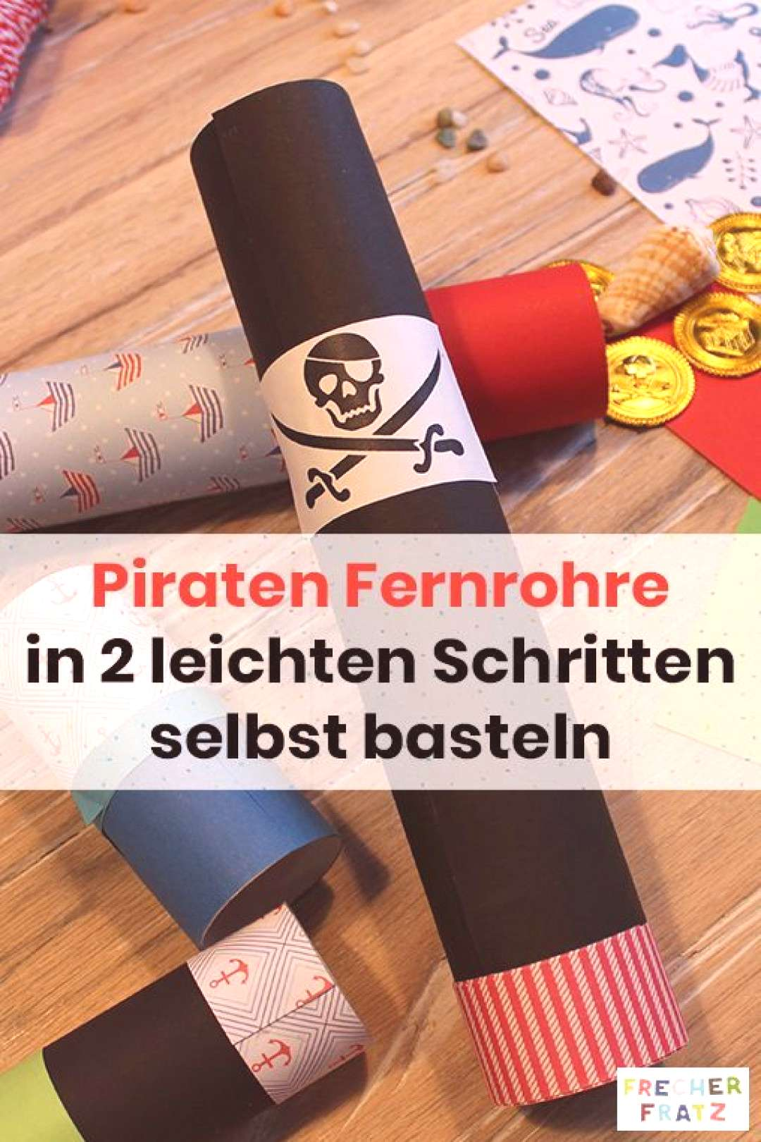 Crafts on a pirates birthday - make your individual telescopes! Crafts on a pirates birthday - ma