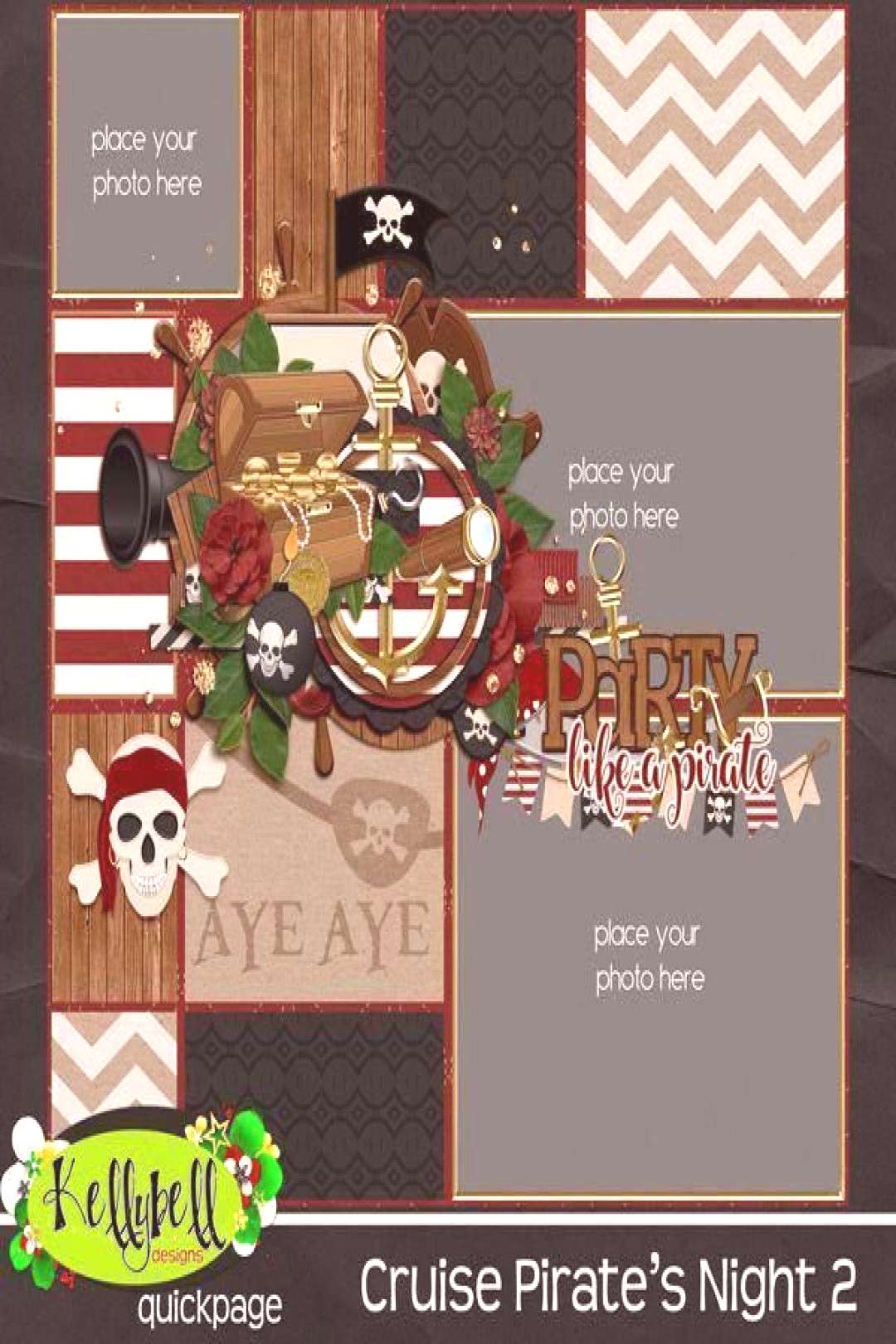 Cruise Pirate's Night 2 – Kellybell Designs - Digital scrapbooking kit for c... -