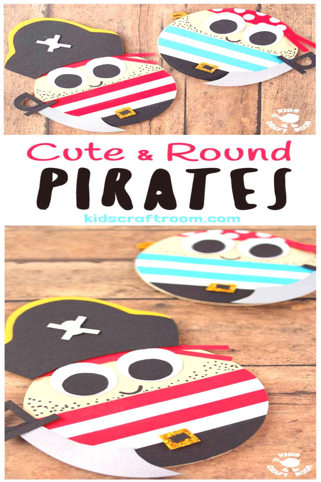 Cute Round Pirate Craft CUTE ROUND PIRATE CRAFT - Shiver me timbers this pirate craft idea is easy