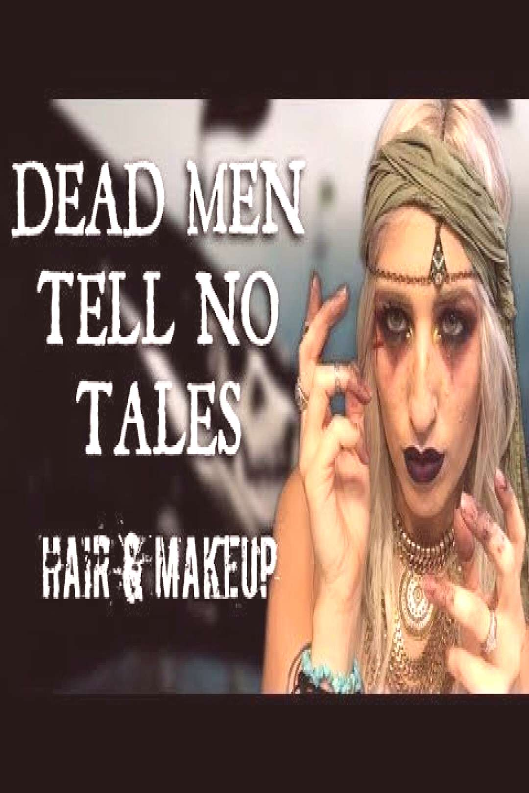 DEAD MEN TELL NO TALES Pirates of the Caribbean MAKEUP amp HAIR Tutorial amp Transformation - -