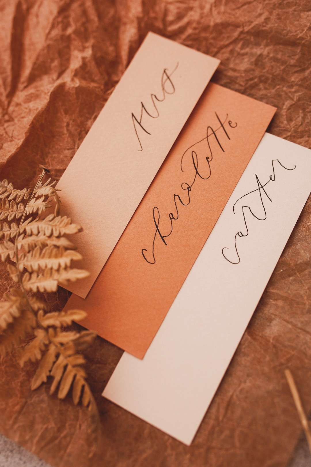 Earth Tone Place Cards by Seek Paper Co. Earth tone place cards by Seek Paper Co for StyledYou Pal