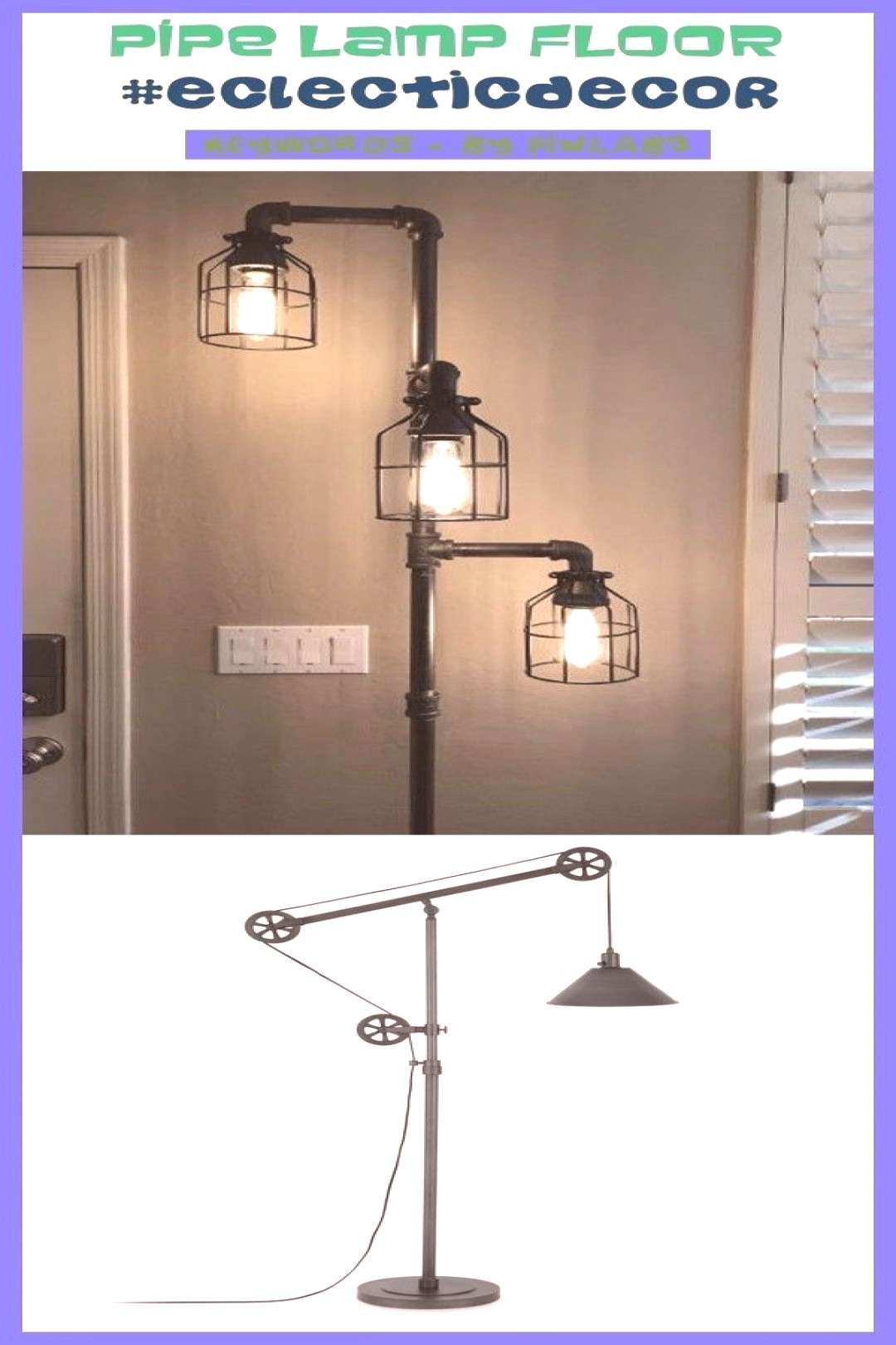 Eclectic decor Pipe lamp dog, Pipe lamp with outlet, Pipe lamp instructions, Pi...#decor