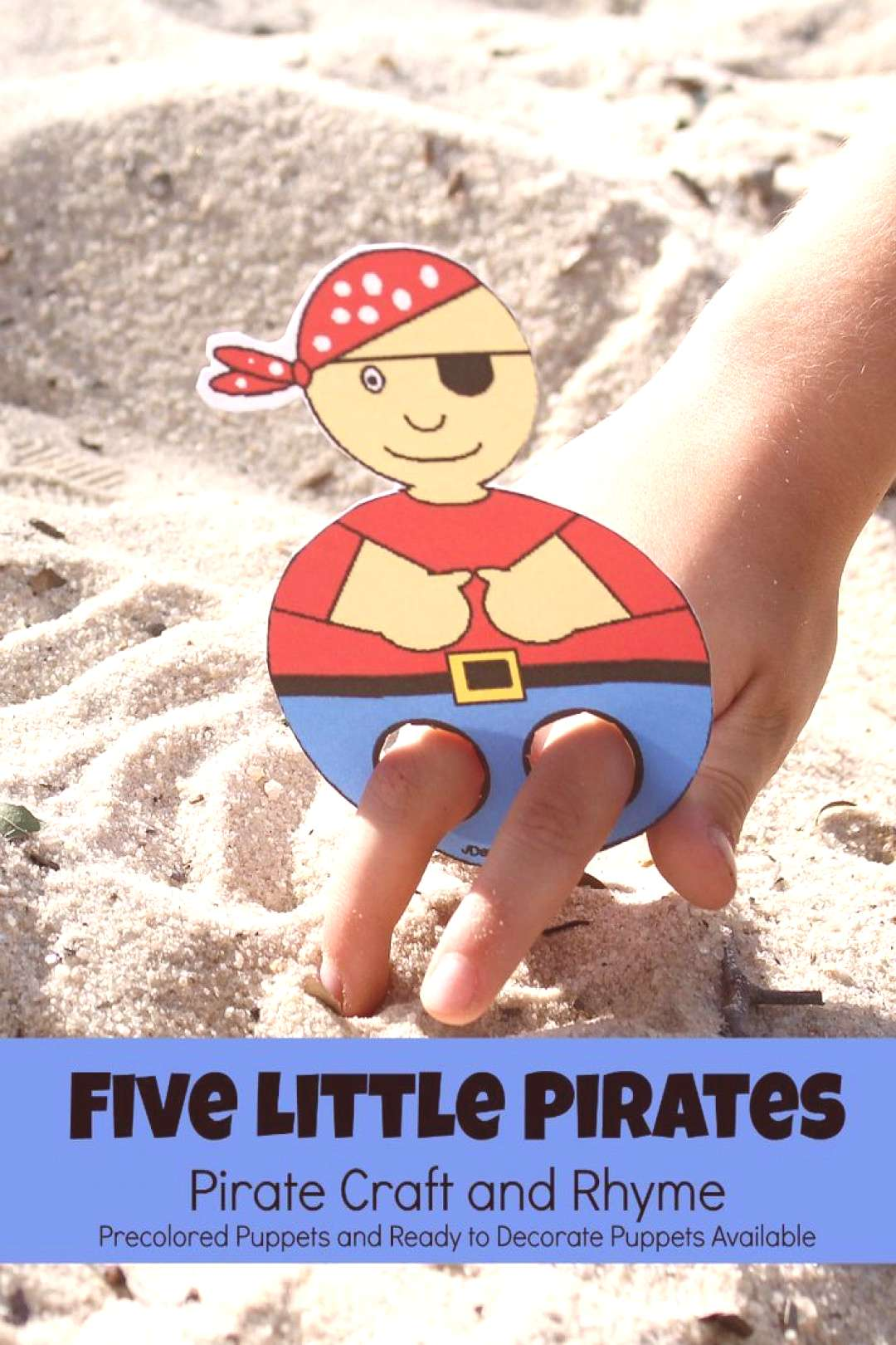 Five Little Pirates Pirate Craft and Printable Five Little Pirates Pirate Craft and Printable