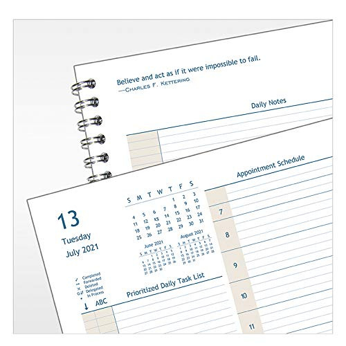 FranklinCovey Monarch Compass Two Page Per Day Wire-Bound