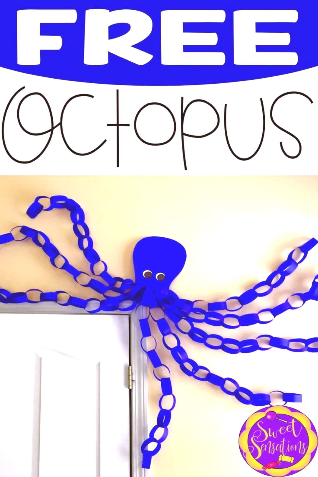 Free step-by-step Octopus tutorial with templates. Perfect for your ocean or pirate themed decor.