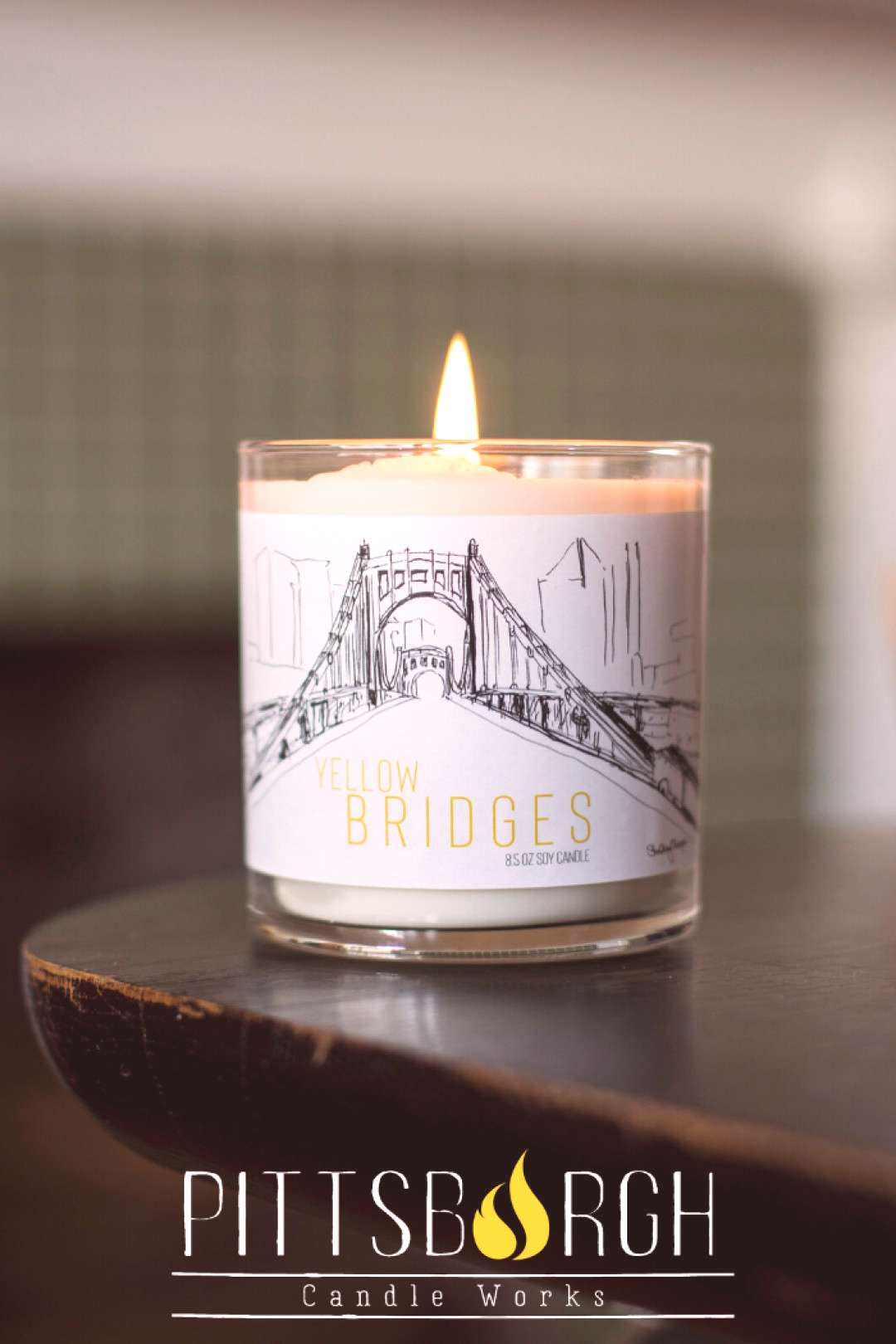 Handmade in Pittsburgh - Soy Candles Gift Ideas With more than 400 bridges in this handmade soy ca