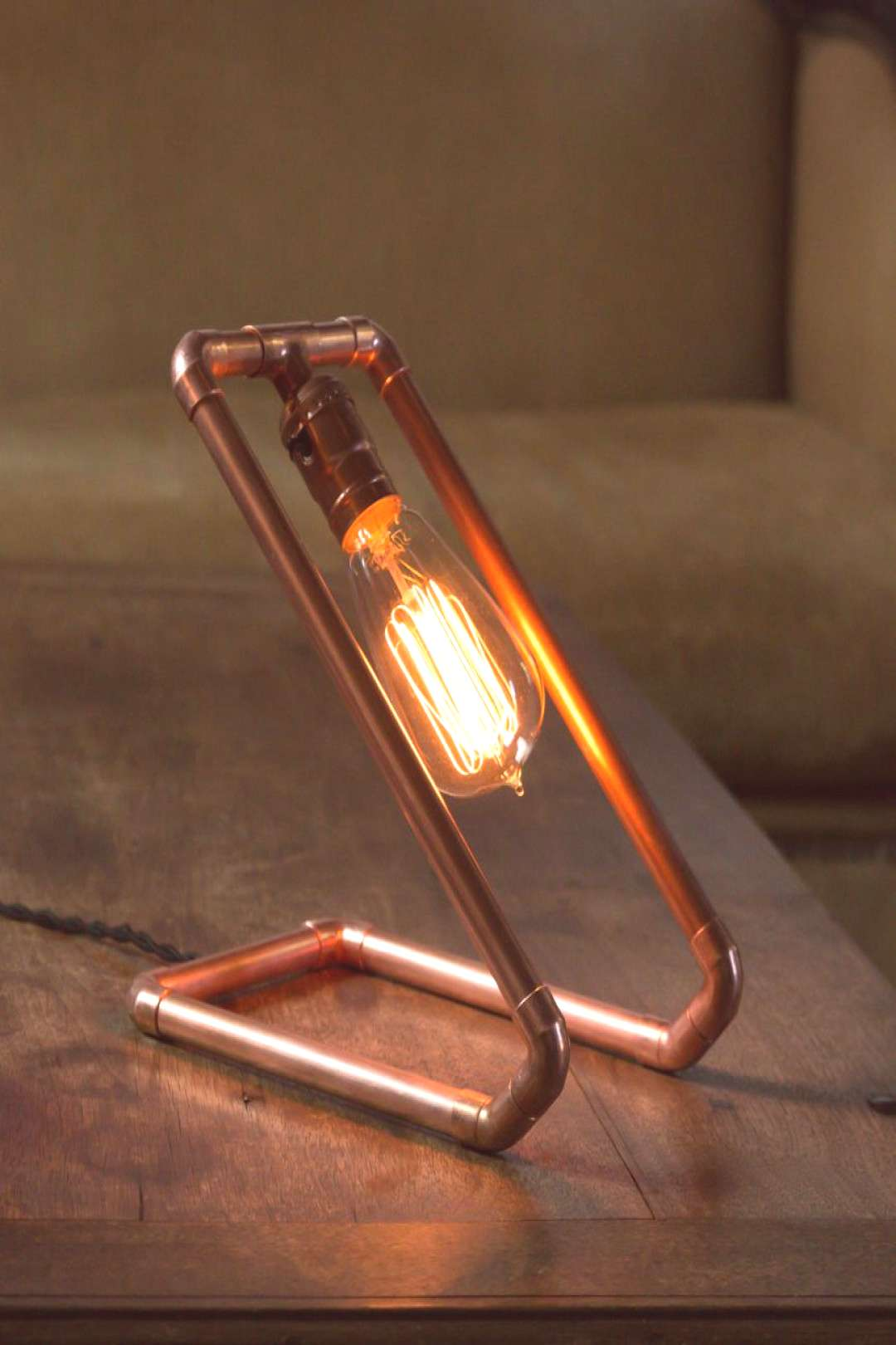 How to Make a Custom Copper Pipe Lamp | Man Made DIY | Crafts for Men