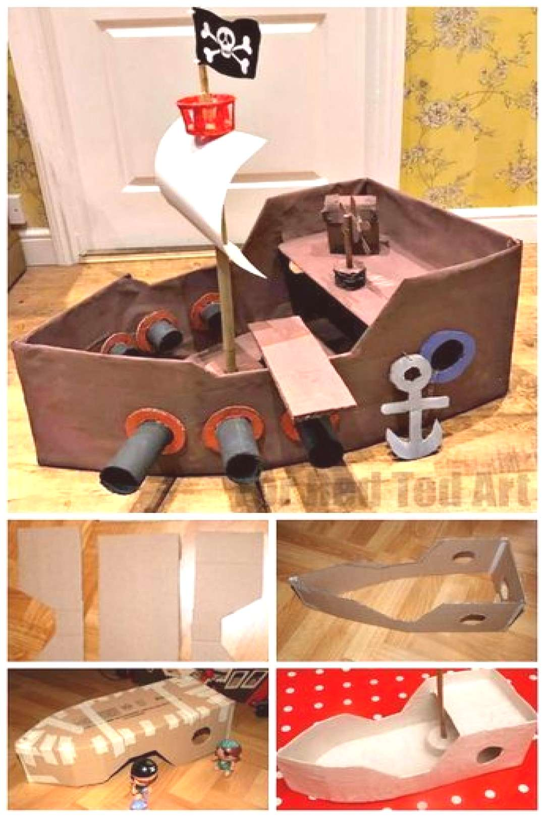 How to... Make a DIY Pirate Ship - Red Ted Art - - DIY Pirate Ship. We love this easy cardboard sh