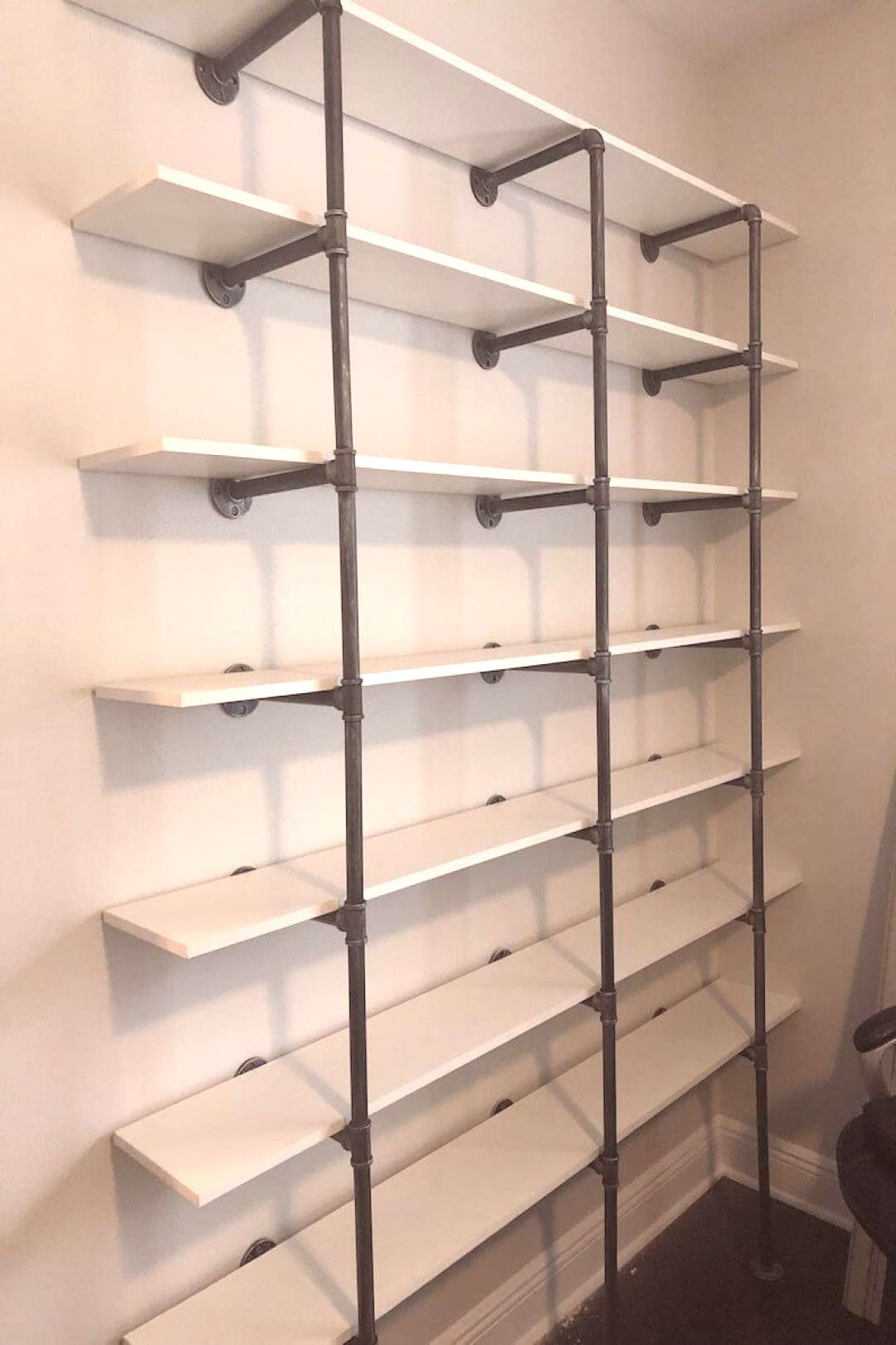 How to Make DIY Industrial Pipe Shelves DIY pipe shelves are a simple amp inexpensive way to add fun