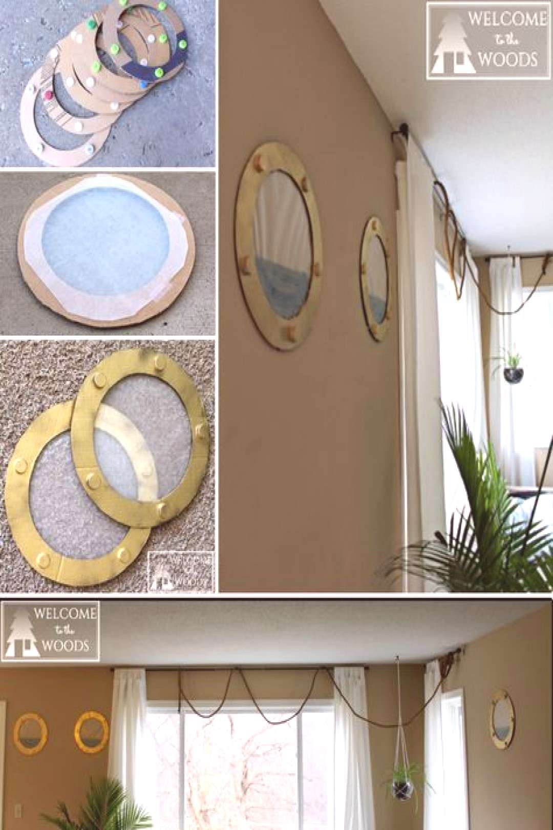 How to make faux portholes for your next pirate or ship theme birthday party celebration. I really