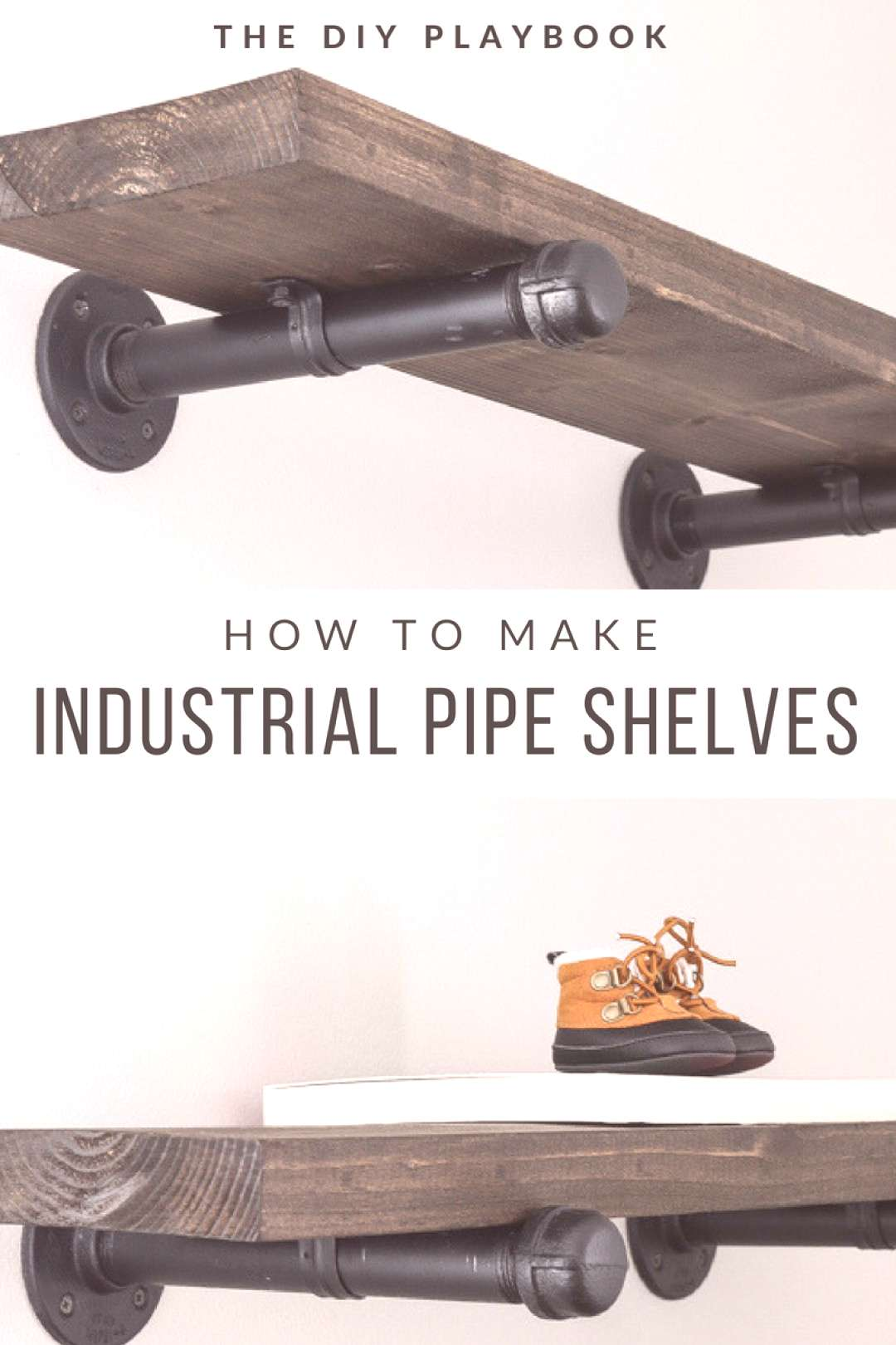 How to make industrial pipe shelves on the cheap. This inexpensive DIY project is a great way to ad