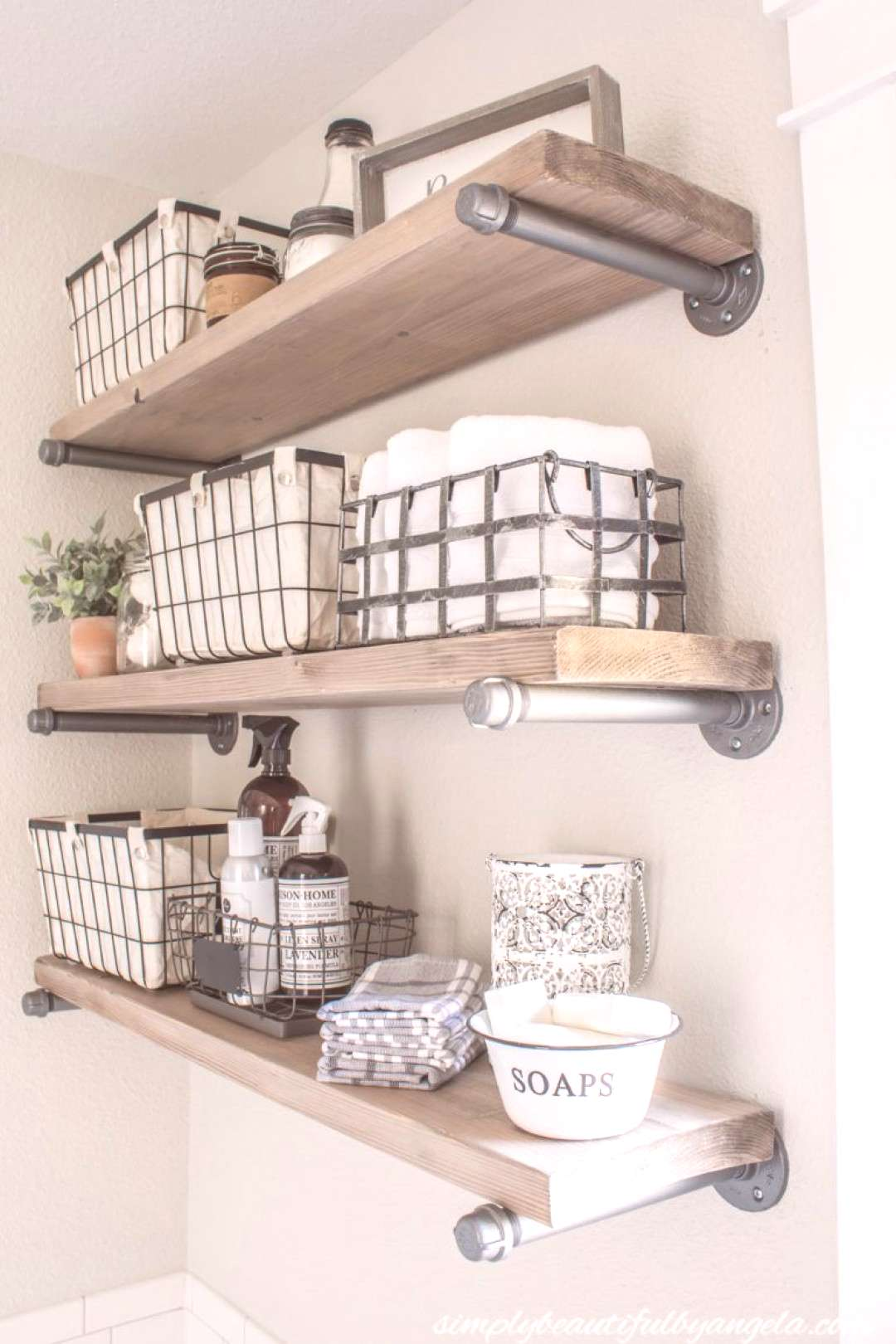 Industrial Pipe Shelves   Simply Beautiful By Angela