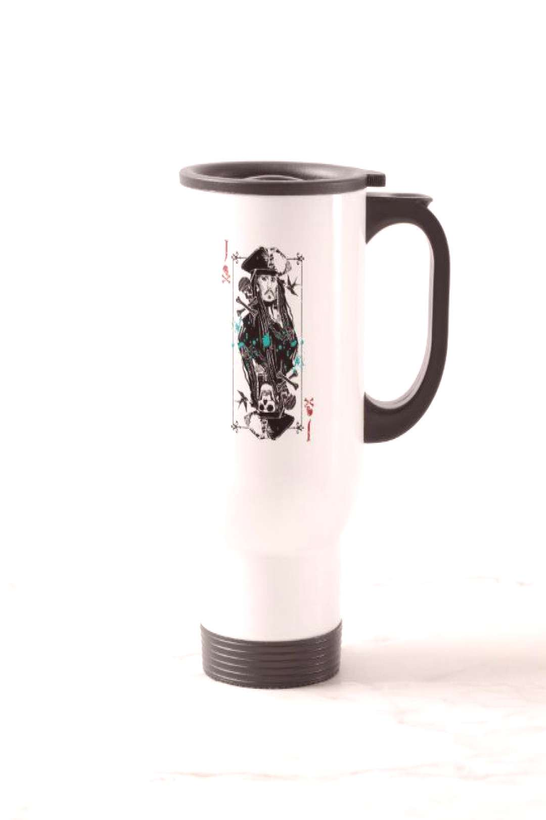 Jack Sparrow - A Wanted Man Travel Mug Gift ideas for men coffee mugs one of a kind drinkware
