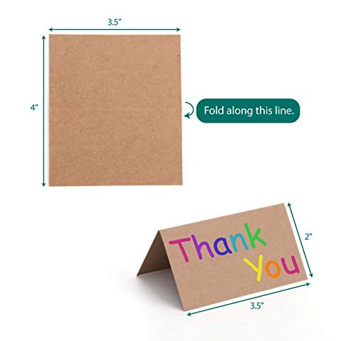 KARRES (QTY 200) Kraft Brown Table Name Cards Place Cards,
