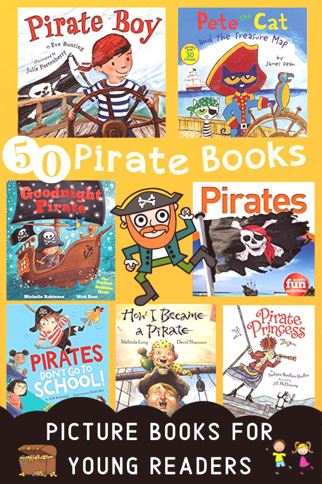 Kid Friendly Pirate Books - STEMHAX 50 Kid Friendly Pirate Books - Picture Books For Young Readers!