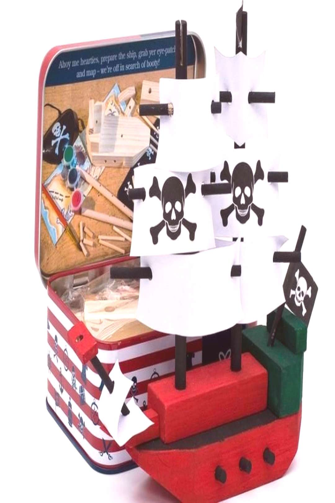 Kids craft kit build your own pirate ship This lovely childrens craft kit is packed to the brim wi