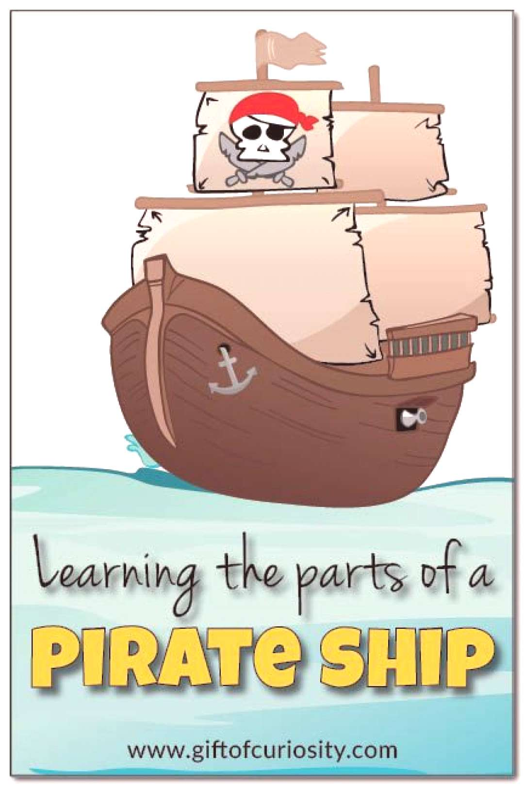 Learning the parts of a pirate ship Two simple activities to help kids learn the parts of a pirate