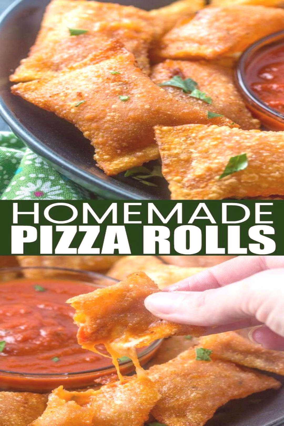 Like your childhood favorites these Homemade Pizza Rolls are stuffed with pepperoni, cheese and piz