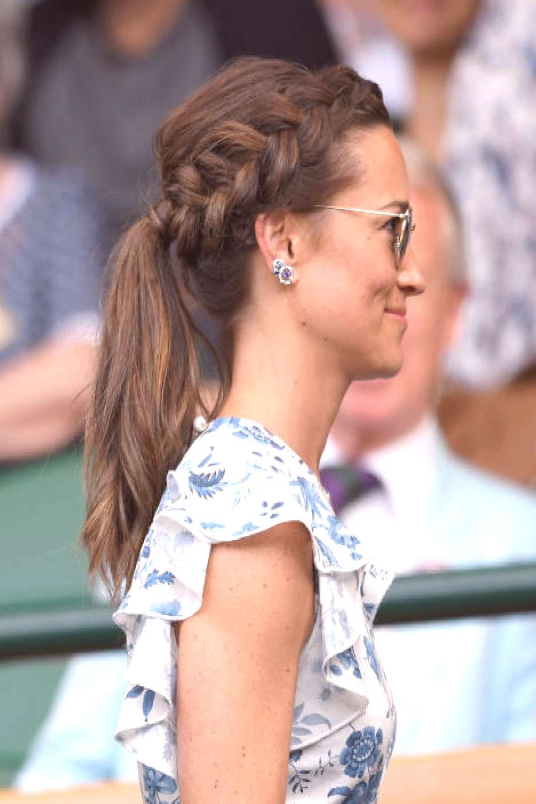 LONDON, ENGLAND - JULY 13 Pippa Middleton in the Royal Box on Centre Court during day twelve of th