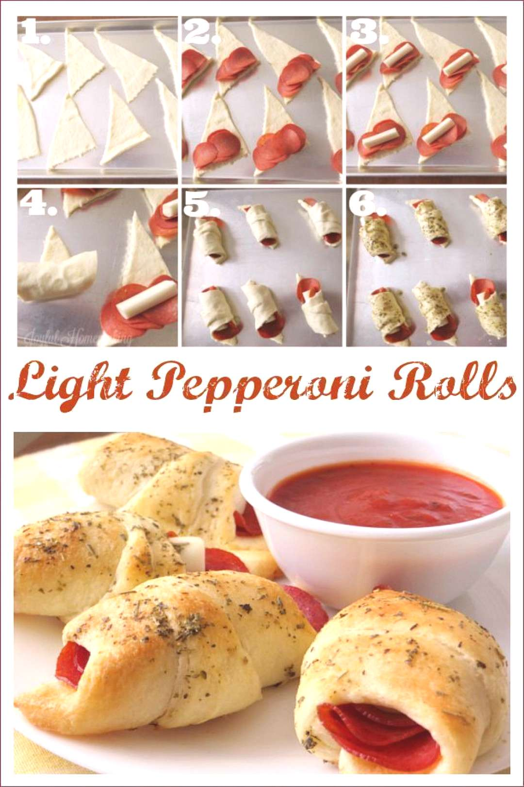 Lower Fat Pepperoni Pizza Crescent Roll Ups Lower Fat Pepperoni Pizza Crescent Roll Ups