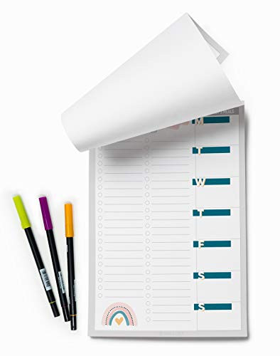 Meal Planner, Grocery List, Meal Planning Pad 60 Removable