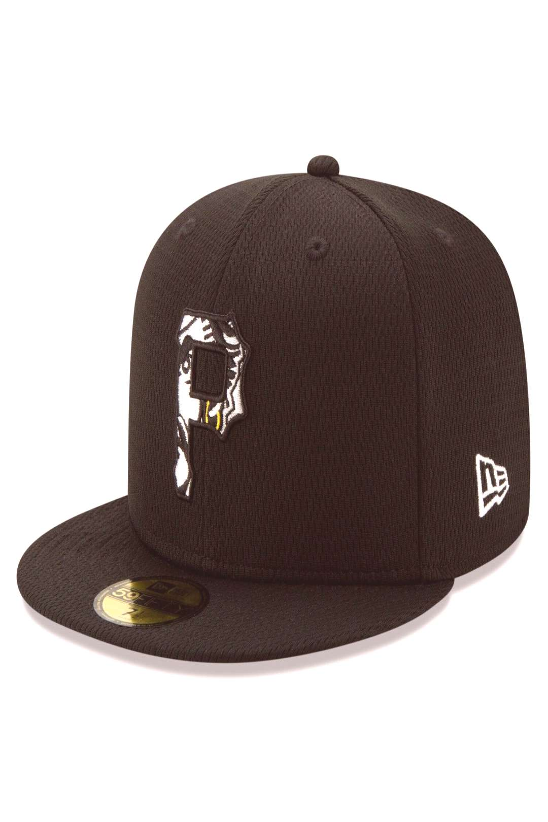 Mens New Era Black/White Pittsburgh Pirates 2020 Batting Practice 59FIFTY Fitted Hat