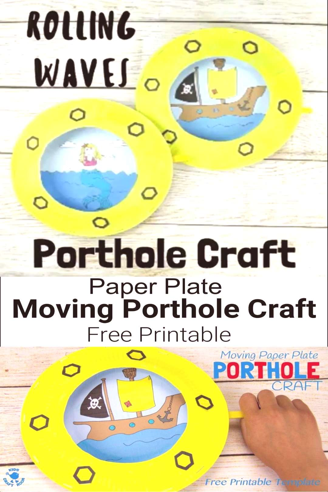 Moving Paper Plate Porthole Craft PAPER PLATE PORTHOLE CRAFT - a fantastic ocean craft for kids tha