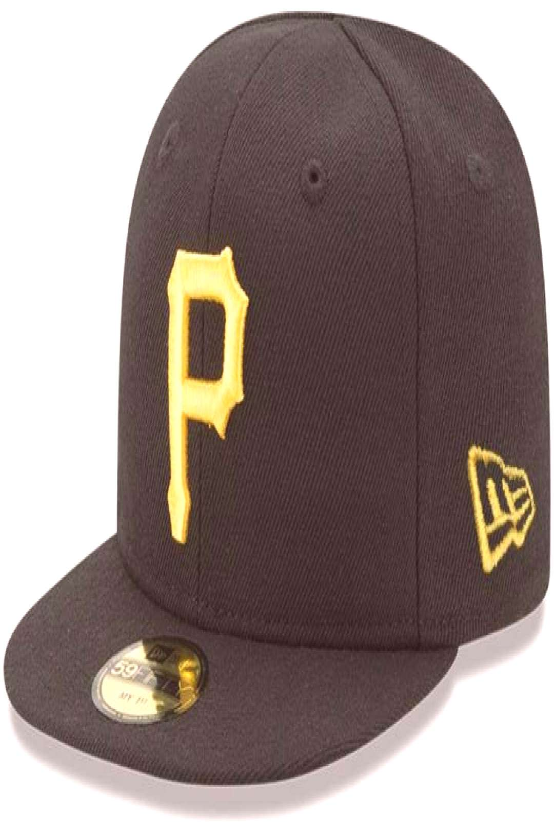New Era Infant Black Pittsburgh Pirates Authentic Collection On-Field My First 59FIFTY Fitted Hat ,