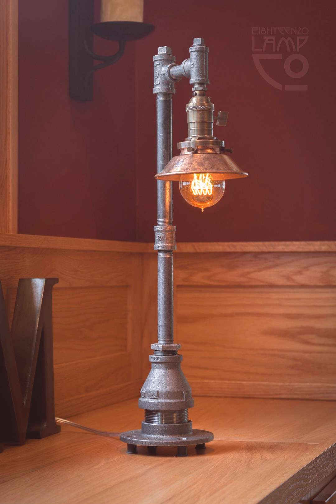 No. 2 Industrial Light Fixture Edison Style Pipe Lamp   Etsy