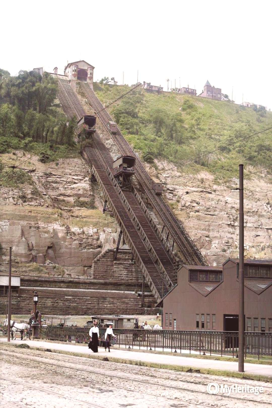 Odd Pittsburgh on Twitter quot#Pittsburghs Monongahela Incline in 1905 (Colorized with @MyHeritage
