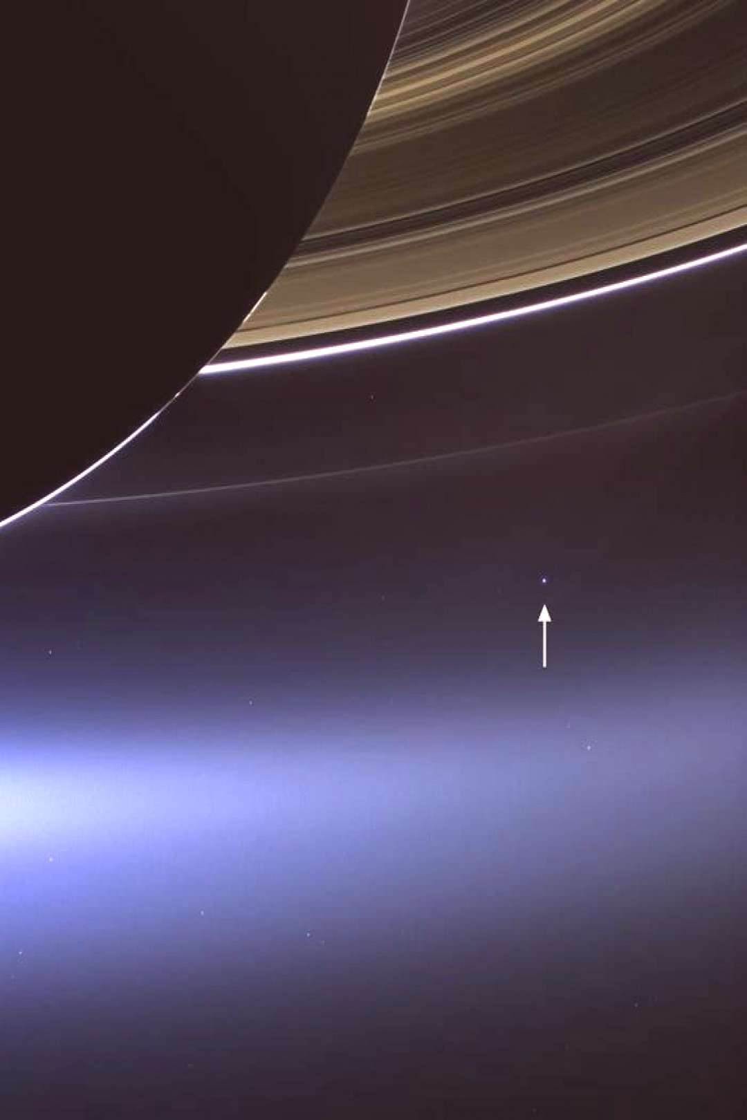 On July 19, NASAs Cassini spacecraft captured a rare image of Saturns rings and our planet Earth