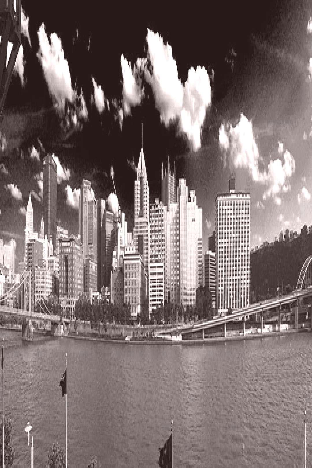 Photograph - Downtown Pittsburgh From The North Side Bw by C H Apperson ,