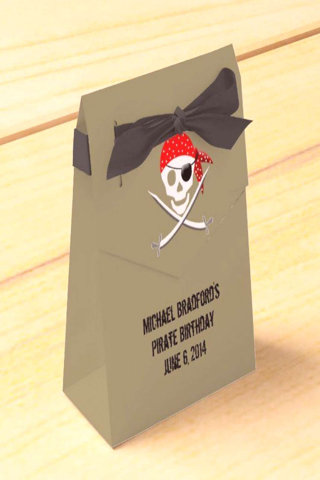 Pirate Birthday Party Bags Favor Box