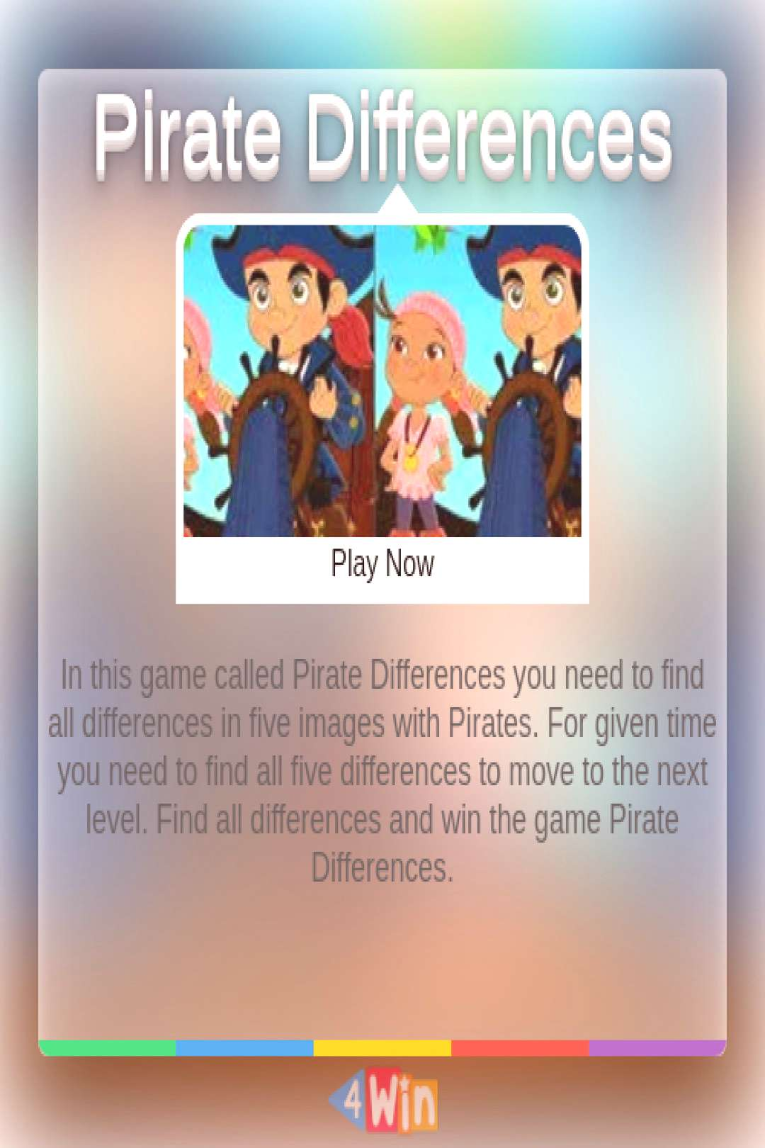 Pirate Differences Game - Free Online Games In this game called you need to find all in five images