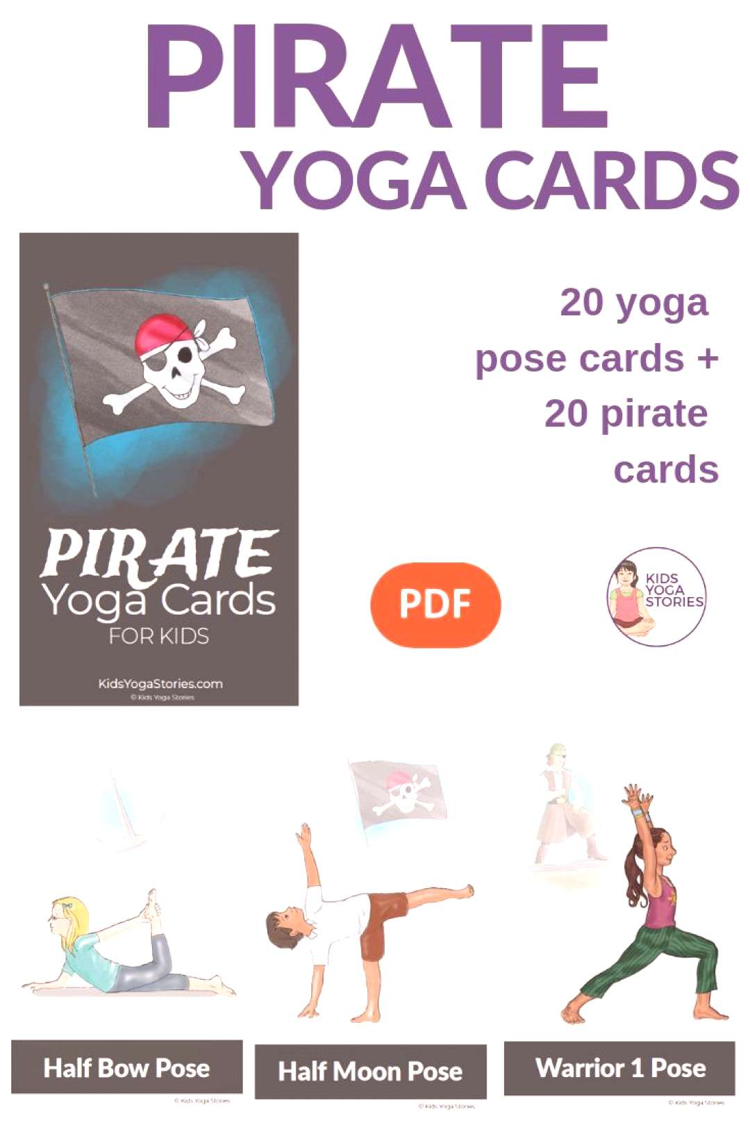 Pirate Yoga Cards for Kids Ahoy, Me Hearties! Bring yoga and movement to your little buccaneers wi