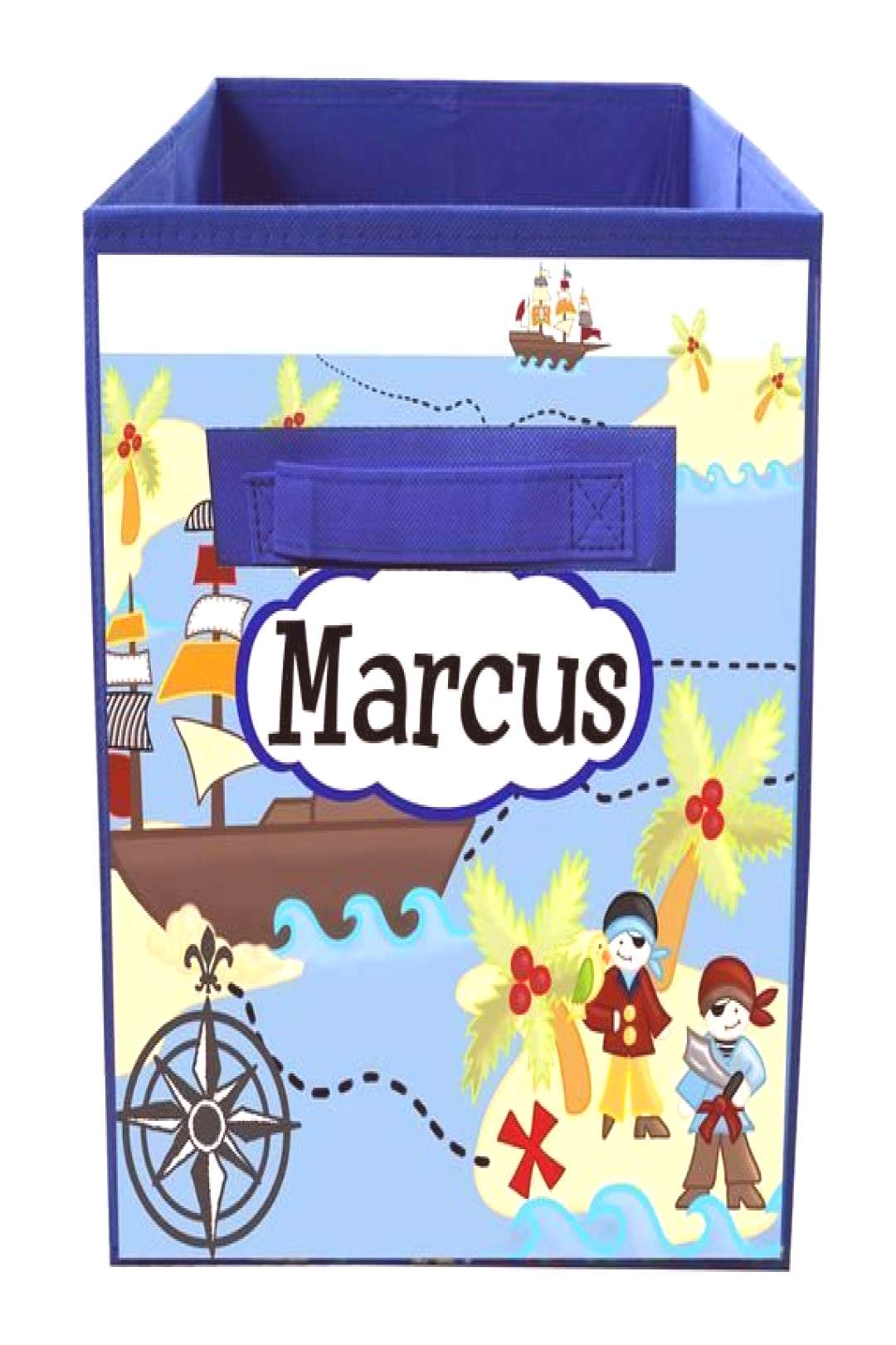 Pirates at Sea Fabric Bin Boys Personalized Bedroom Nursery Organizer for T... ...#bedroom