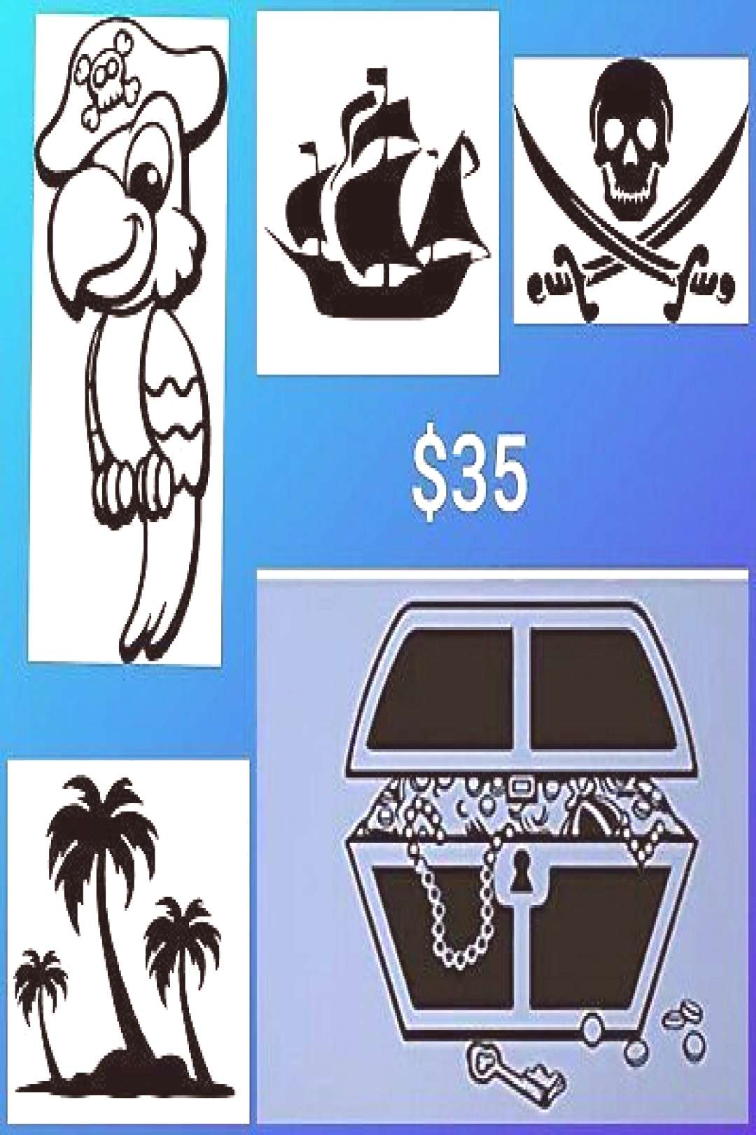 Pirates Nursery Baby Kids Teens Young Adult Vinyl Decal Packs - Walls etc. Adult Fashion adult fash