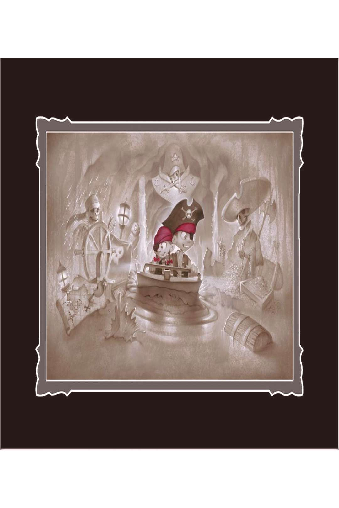 Pirates of the Caribbean Thar Be Pirates in These Parts Deluxe Print by Noah shopDisney