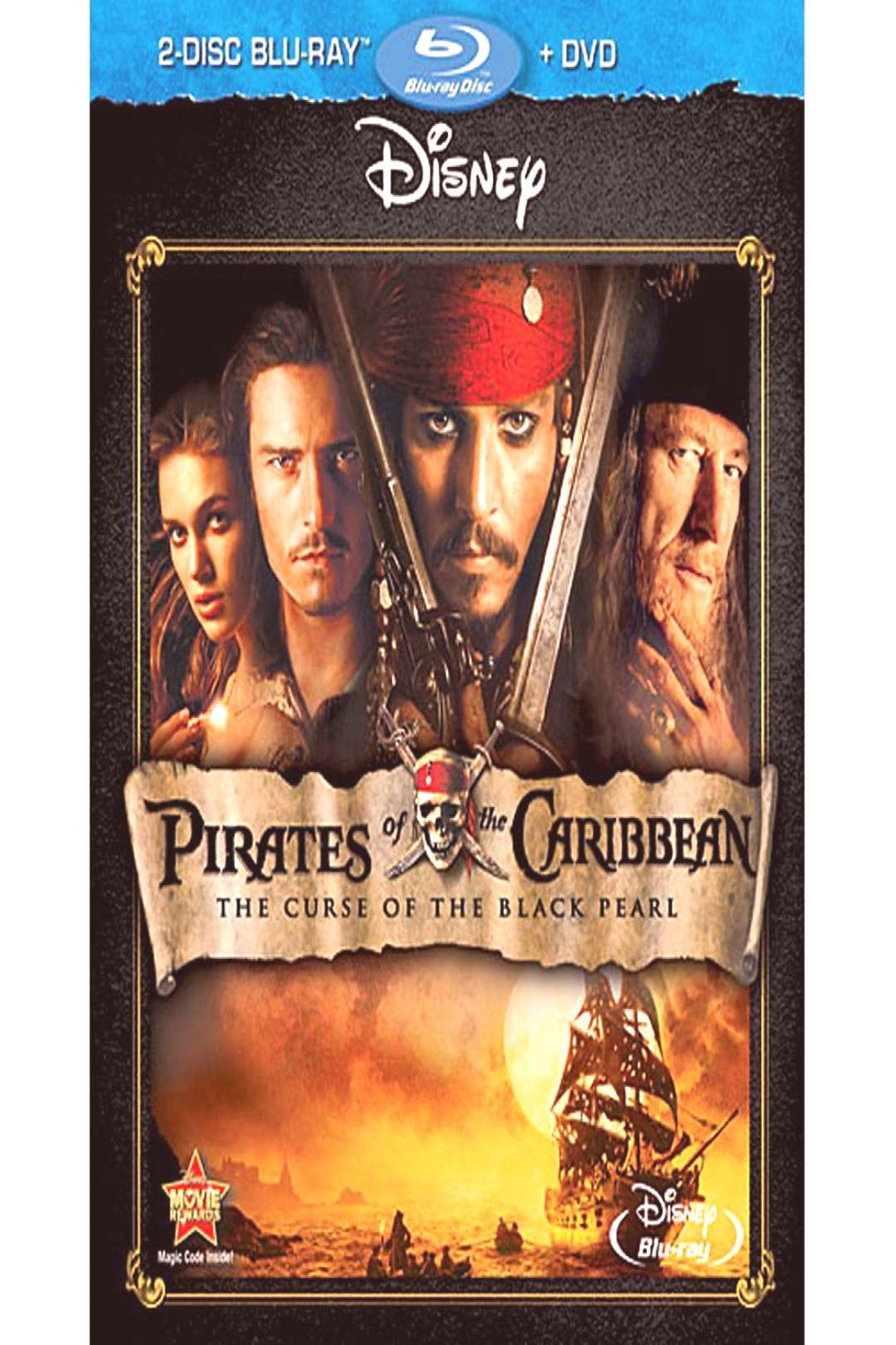 Pirates of the Caribbean The Curse of the Black Pearl - 2-Disc Combo Pack shopDisney