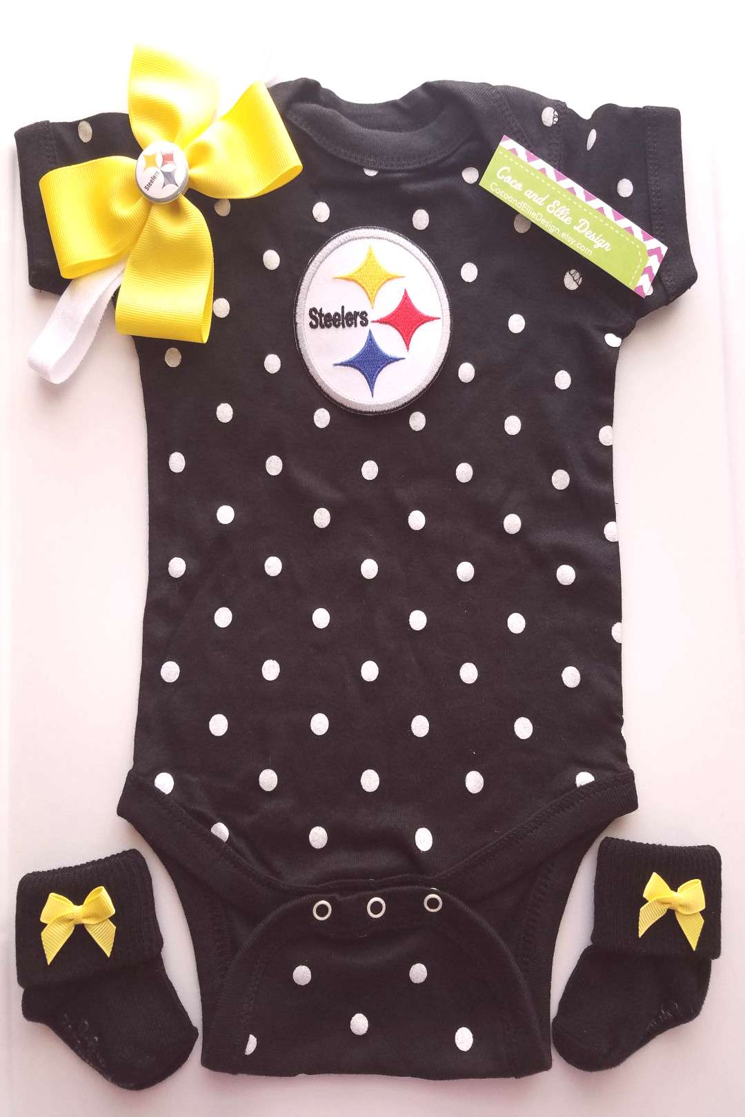 Pittsburg Steelers baby girl outfit/ steelers take home/ steelers toddler/ pittsburgh steelers baby