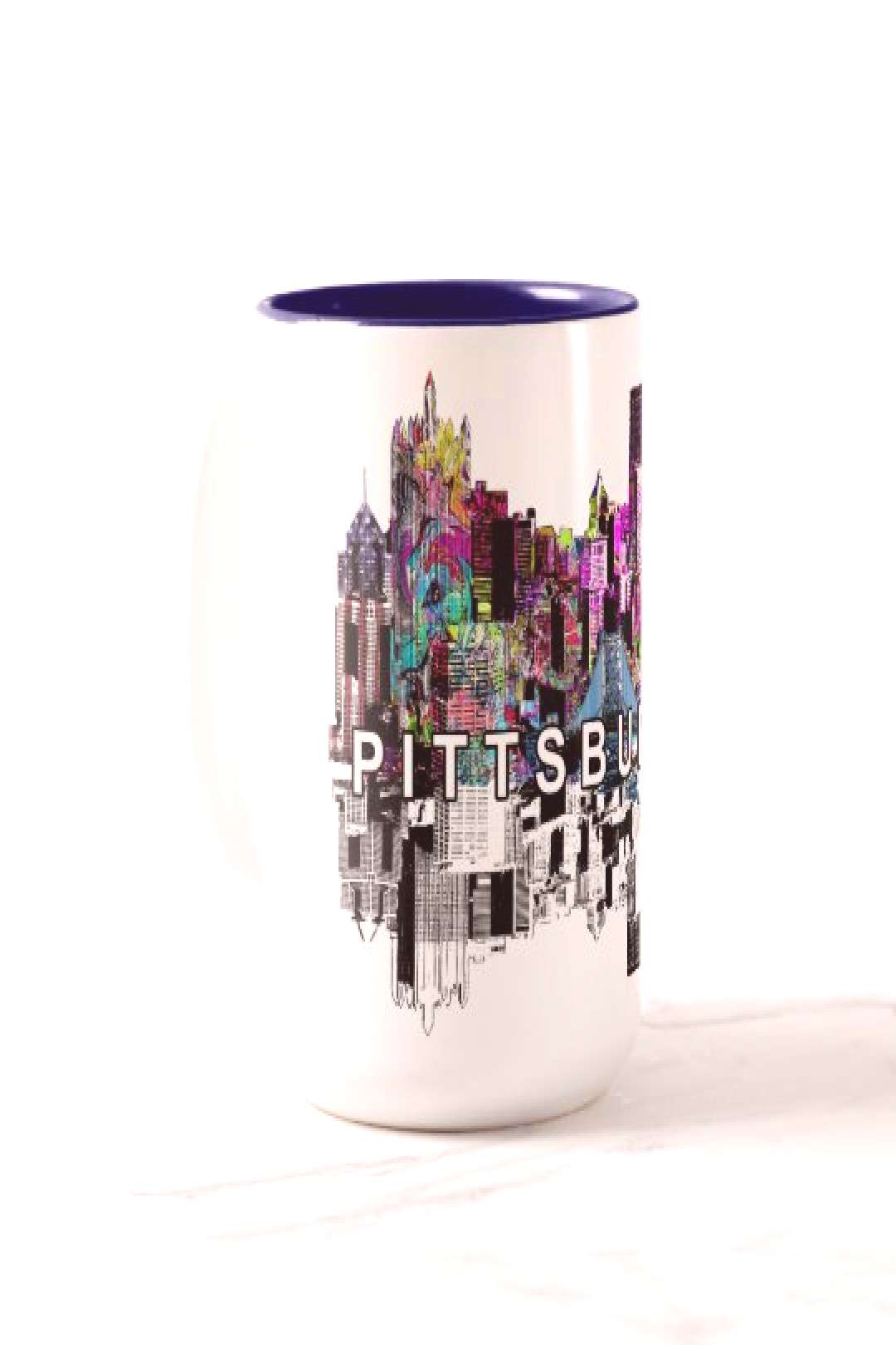 Pittsburgh, Pennsylvania in graffiti Two-Tone Coffee Mug | 15% off with code STAYFITHOMEZ