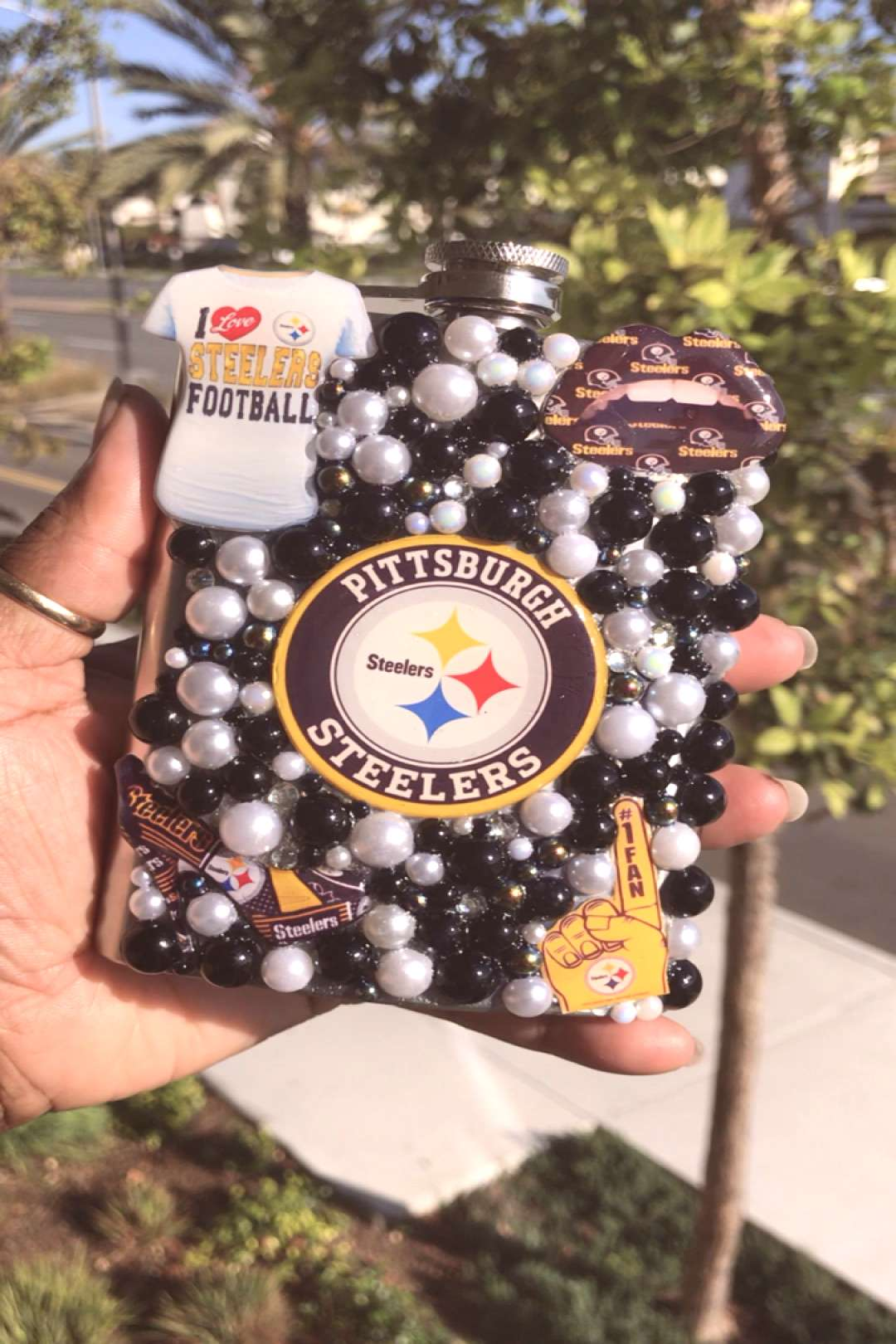 Pittsburgh Steelers Inspired Stainless Steel Flask - -