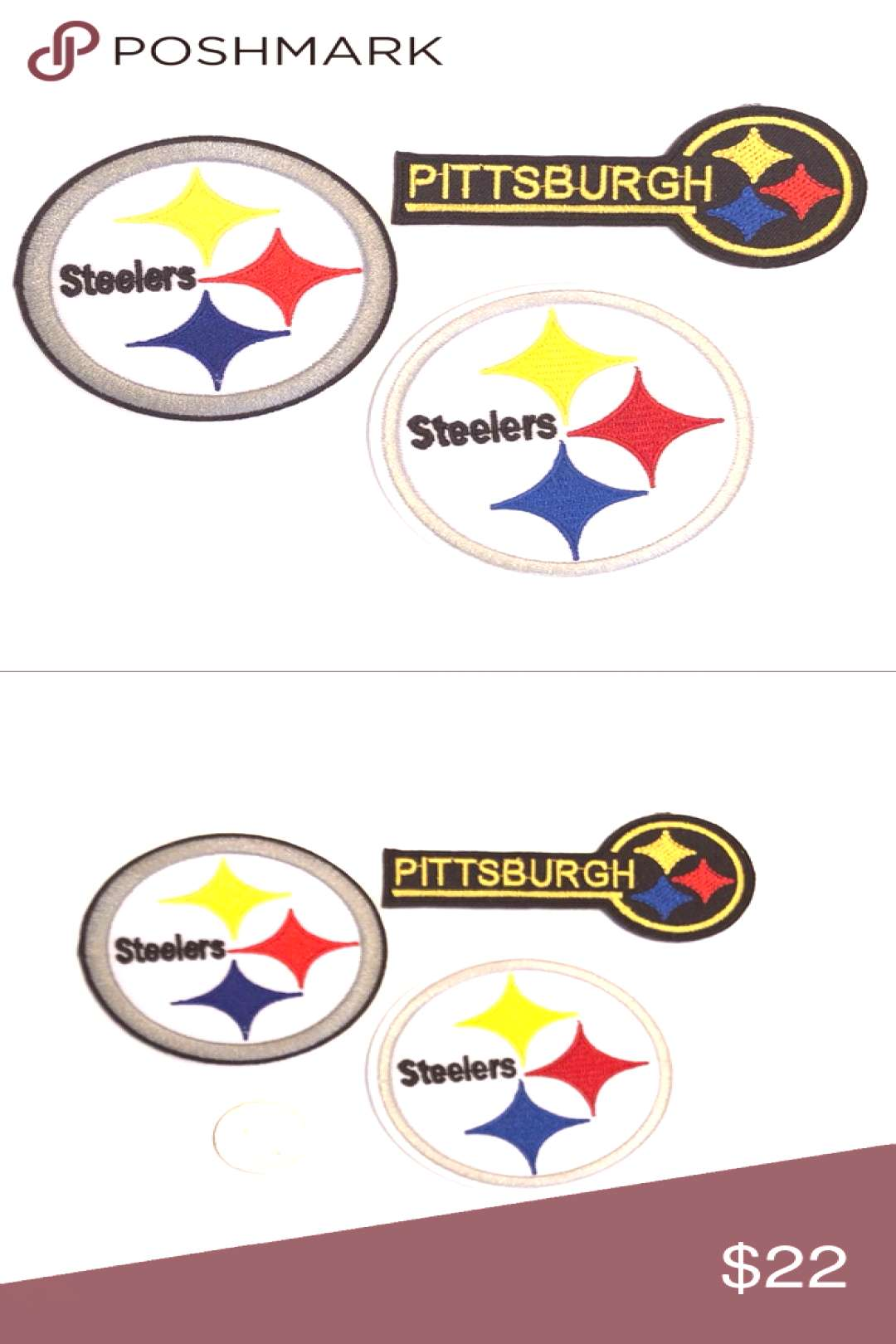 Pittsburgh Steelers Patch Iron On NFL Football DIY Pittsburgh Steelers Iron On P...-#football