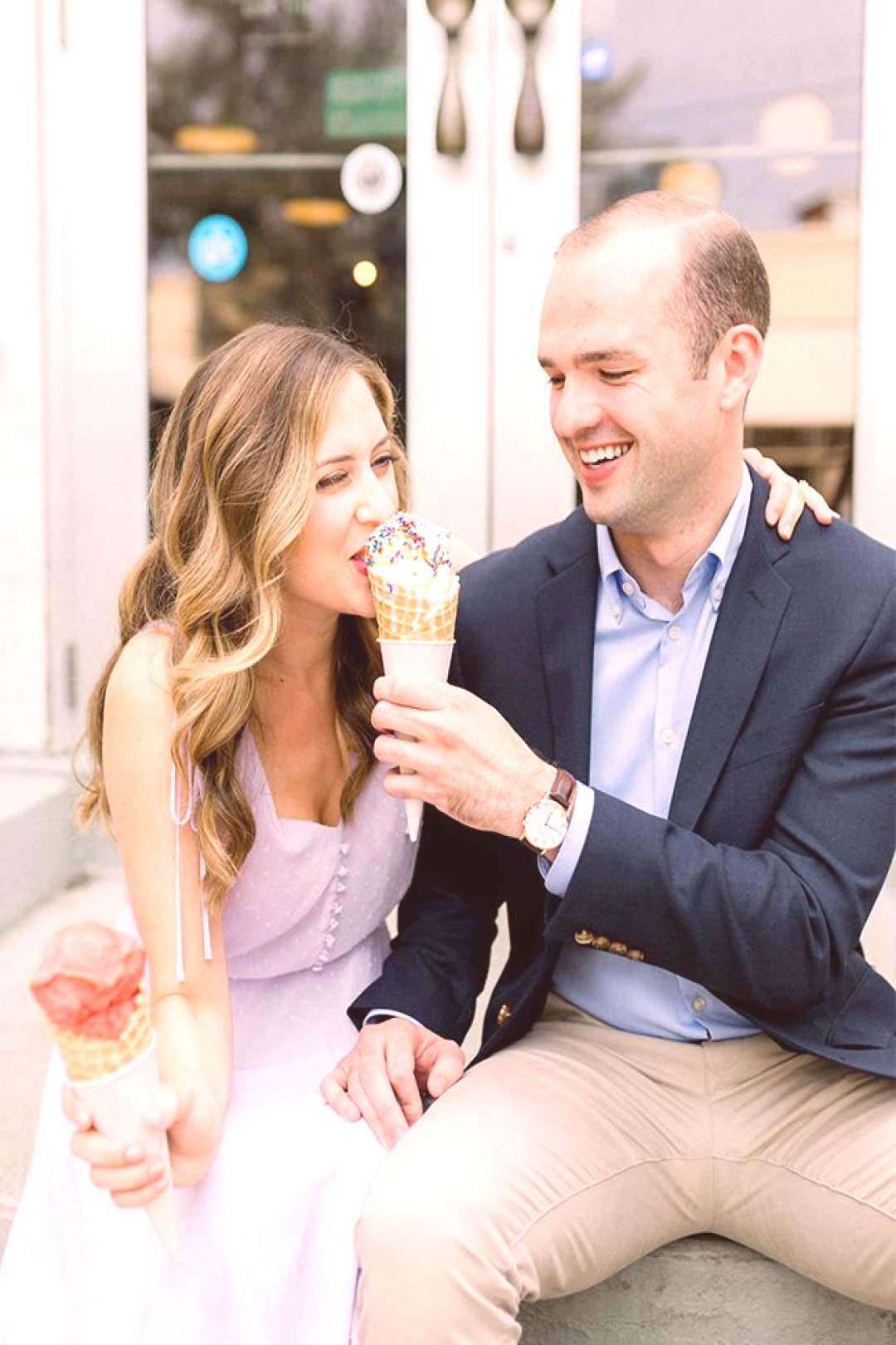 Playful Engagement Photos in Pittsburgh - Inspired By This - Playful Engagement Photos in Pittsbur
