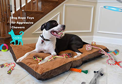 Plazenzon Dog Rope Toy for Aggressive Chewers Medium Bleed